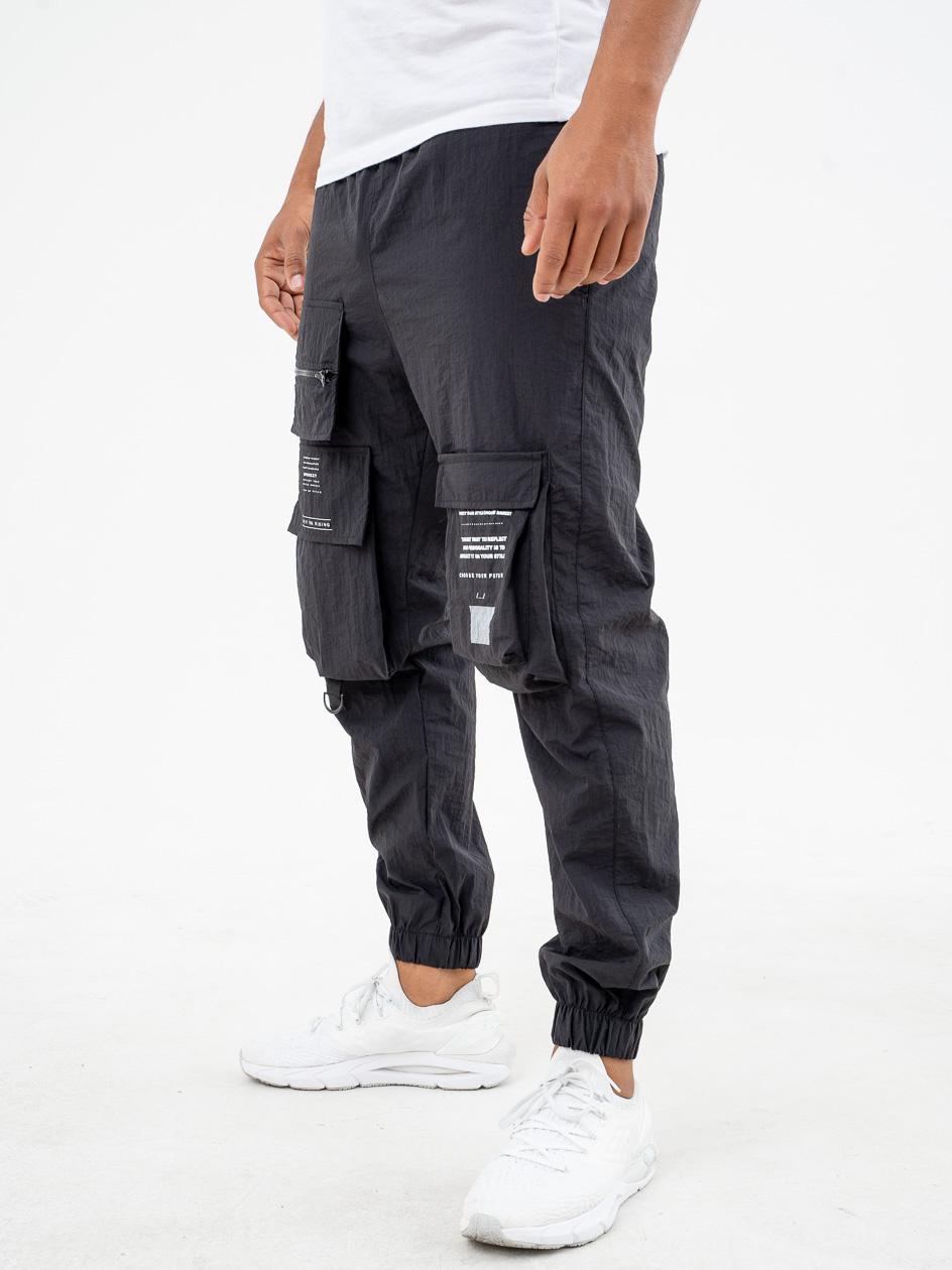 Spodnie Materiałowe Jogger Breezy Barcode Czarne