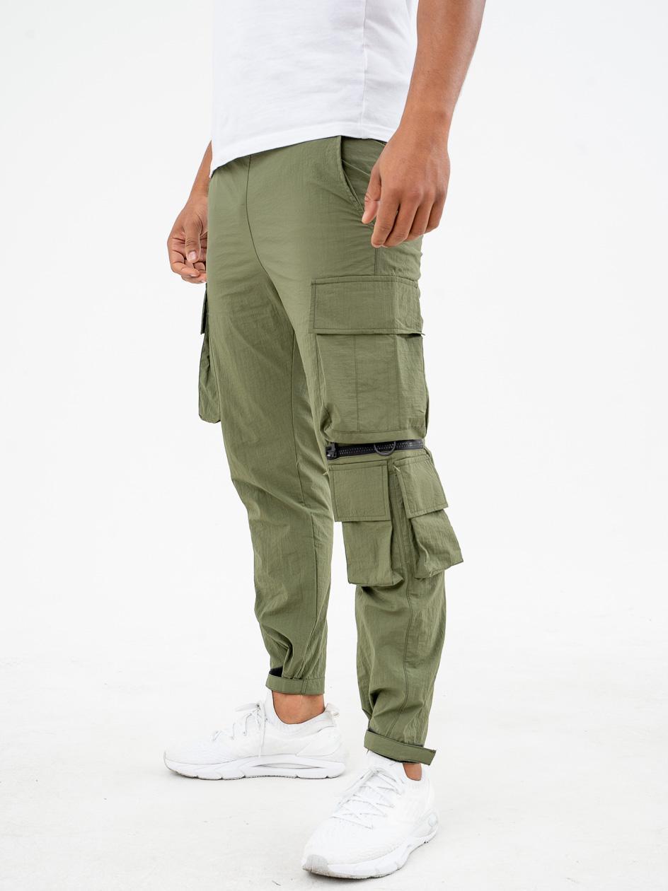 Spodnie Materiałowe Breezy Wright Oliwkowe