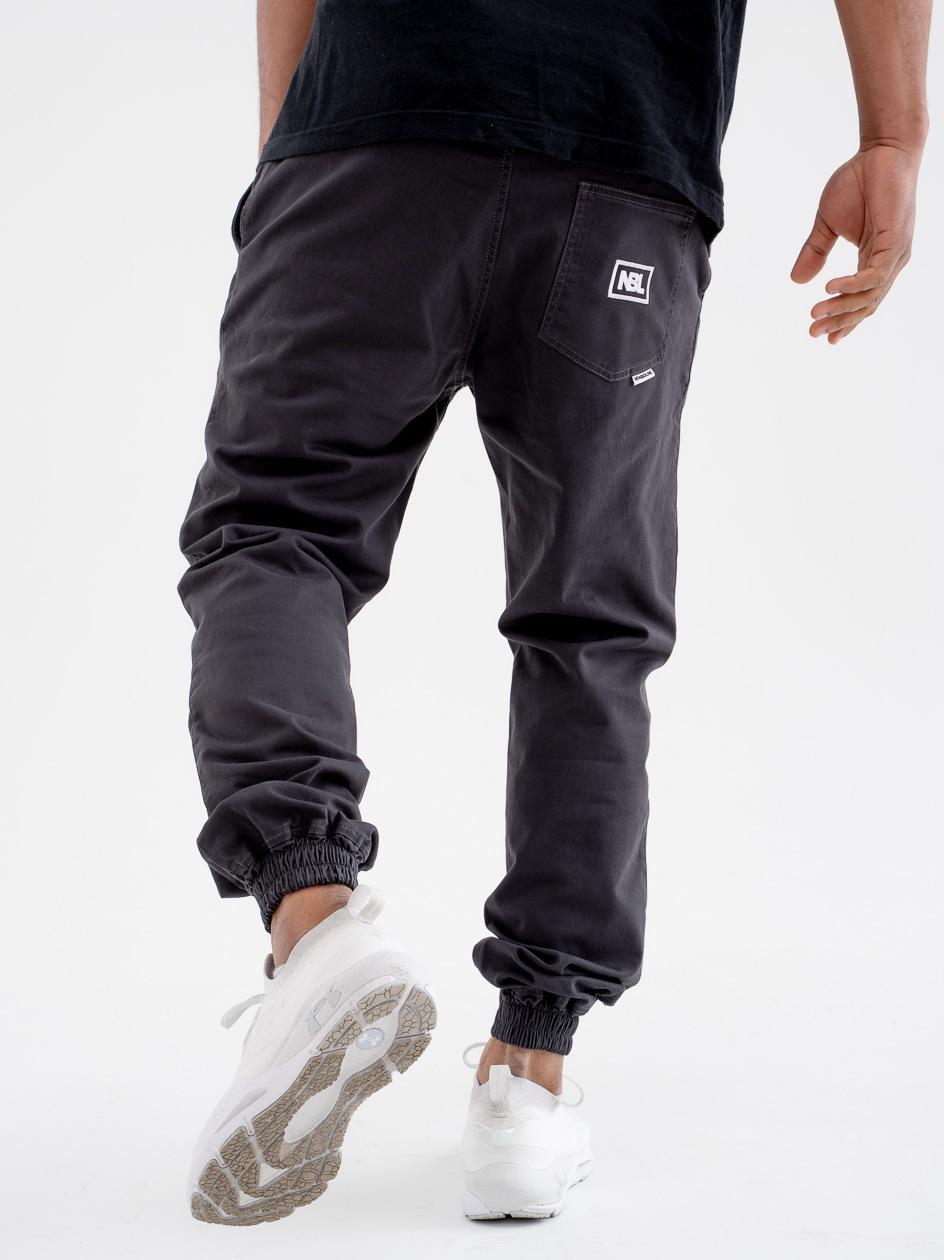 Spodnie Materiałowe Chino Jogger Ze Ściągaczem New Bad Line Icon Ciemne Szare