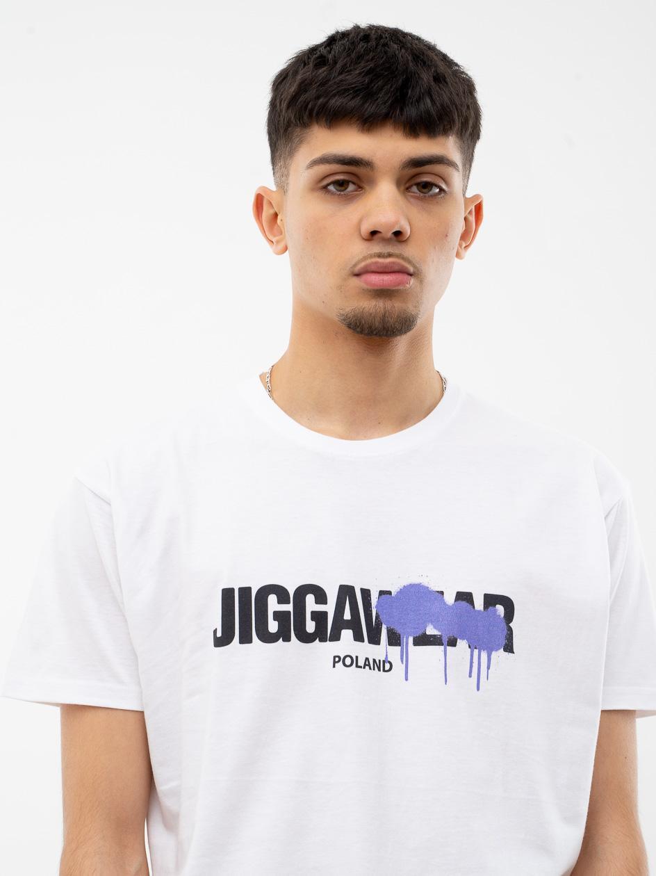 Koszulka Z Krótkim Rękawem Jigga Paint Out Biała