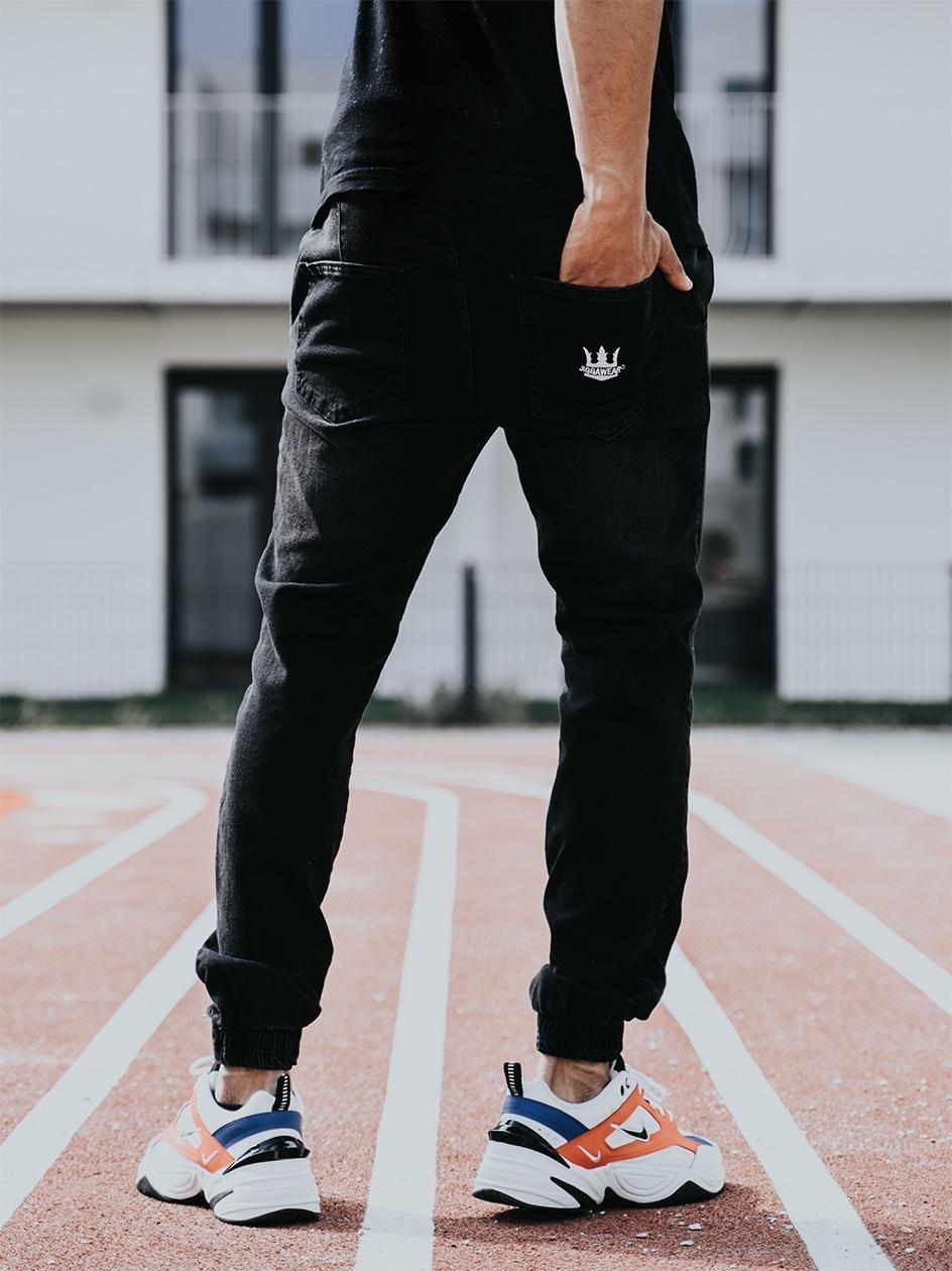 Spodnie Jeansowe Jogger Jigga Crown Classic Czarne