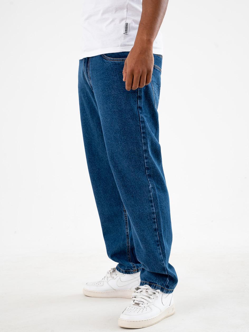 Spodnie Jeansowe Baggy Prosto Flavour XXI Niebieskie