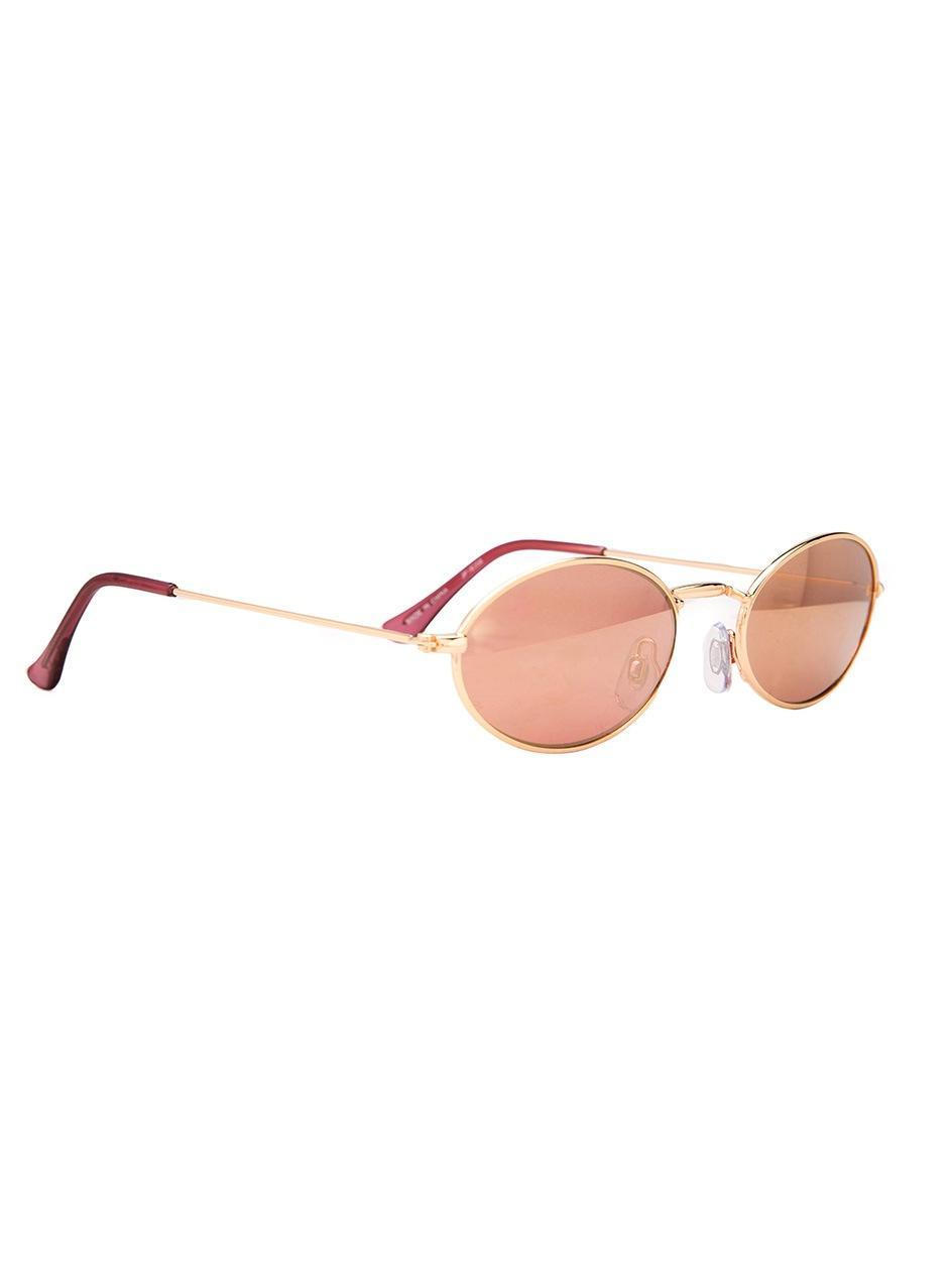 Okulary Przeciwsłoneczne Jeepers Peepers Oval Złote / Różowe