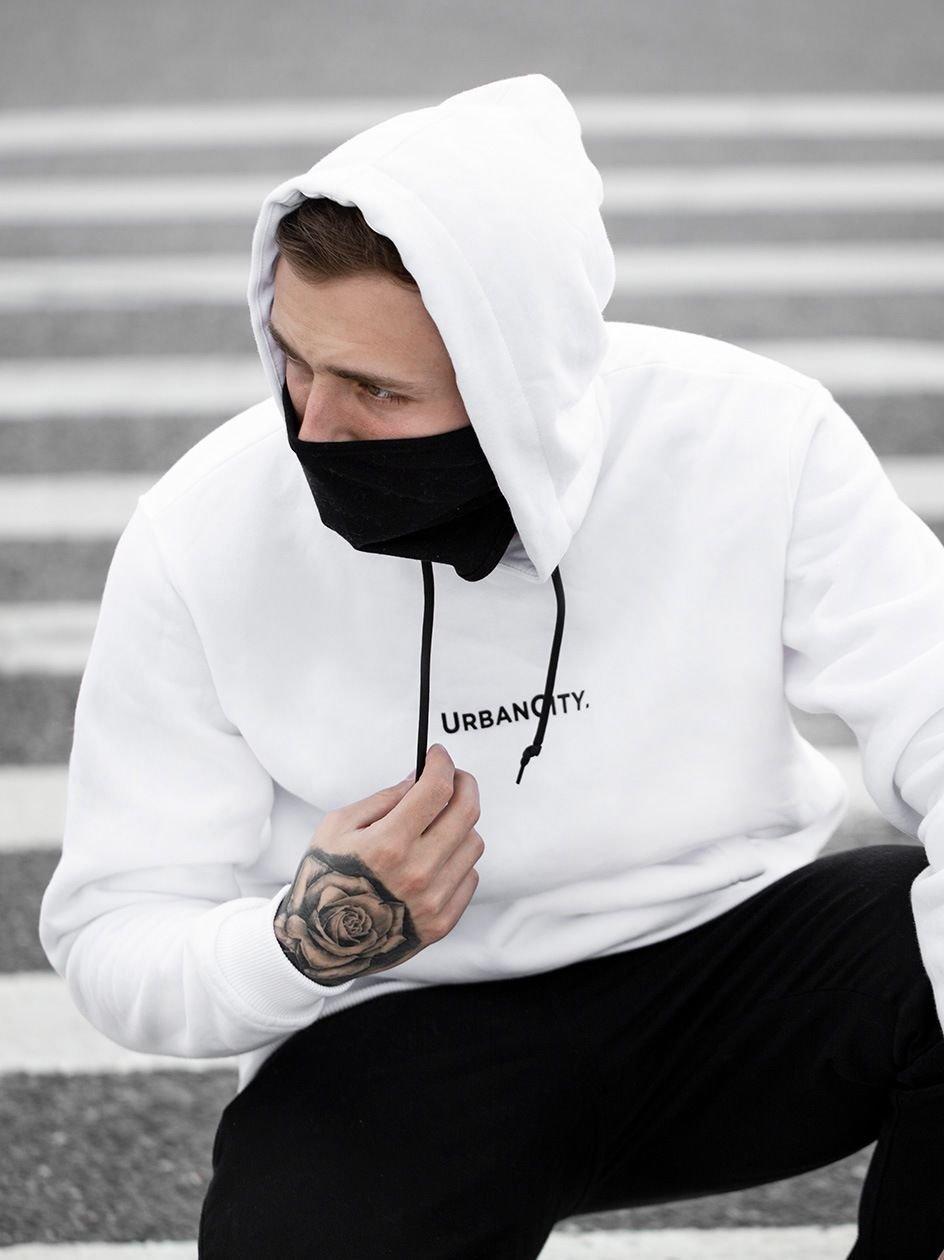 Bluza Z Kapturem UrbanCity Mask Biała