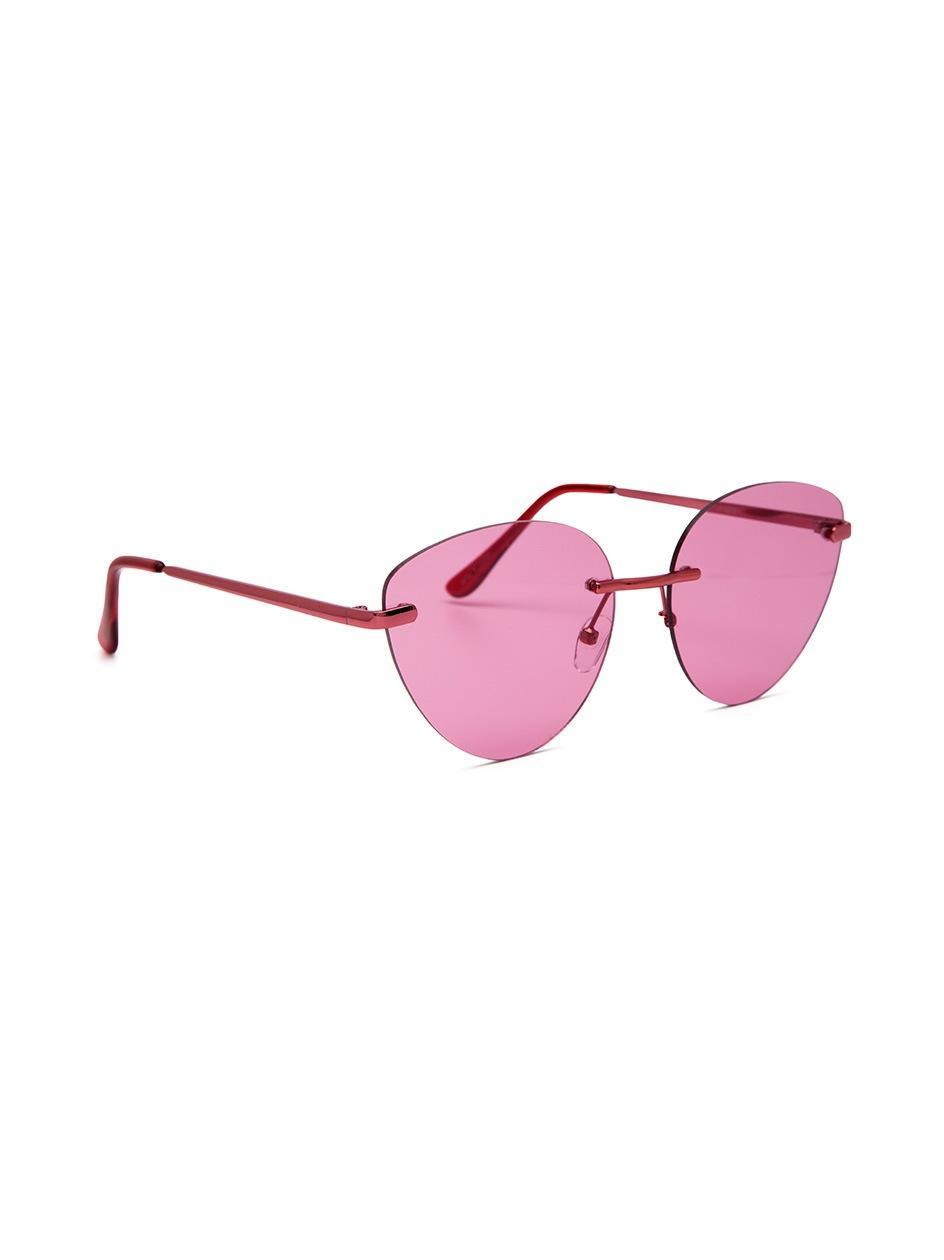 Okulary Przeciwsłoneczne Jeepers Peepers Rimless Różowe