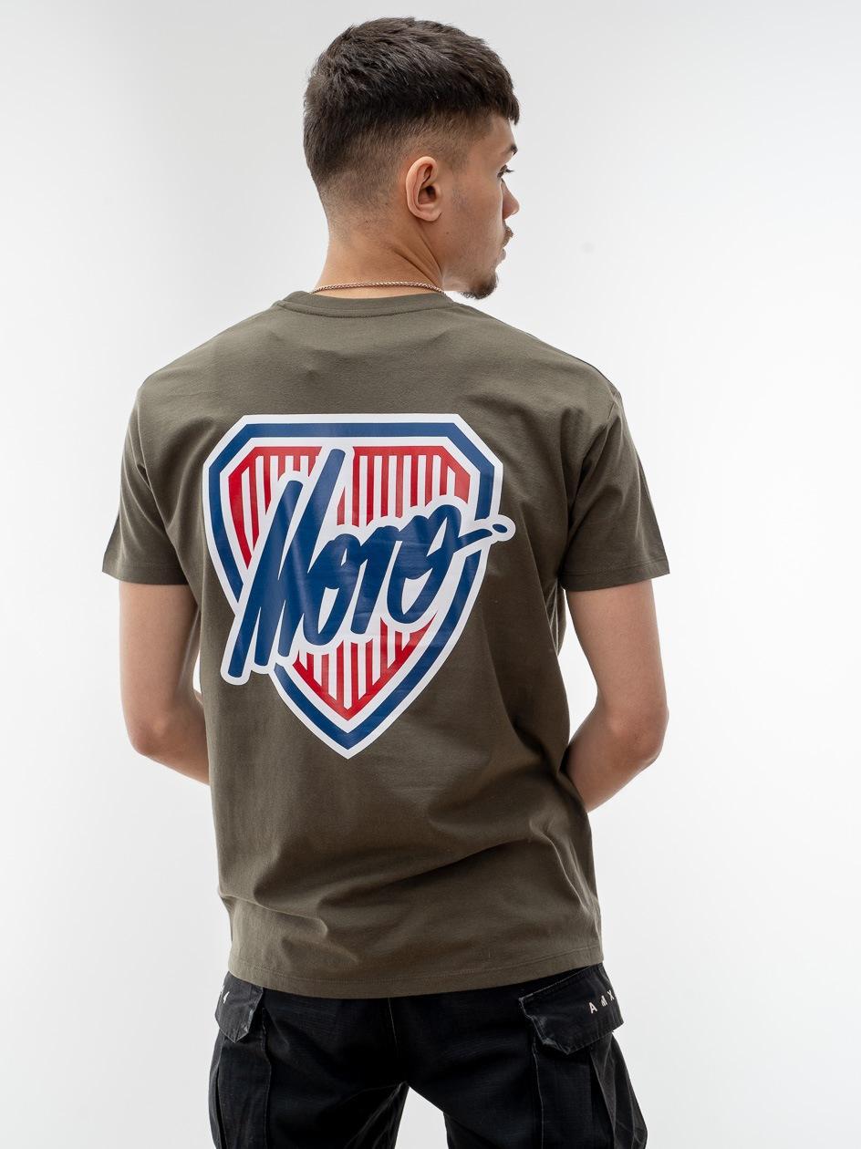 Koszulka Z Krótim Rękawem Moro Sport Shield Slant Tag Oliwkowa