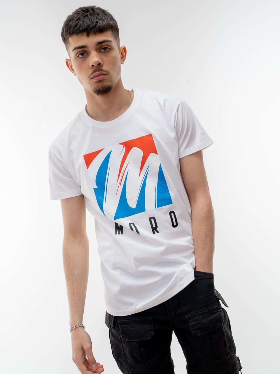 Koszulka Z Krótkim Rękawem Moro Sport Brush Biała
