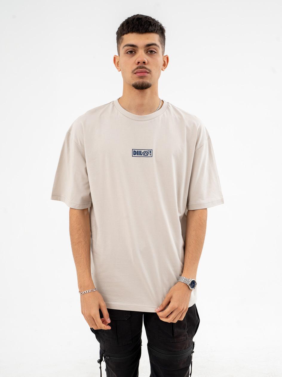 Koszulka Z Krótkim Rękawem DIIL Oversize Beżowa
