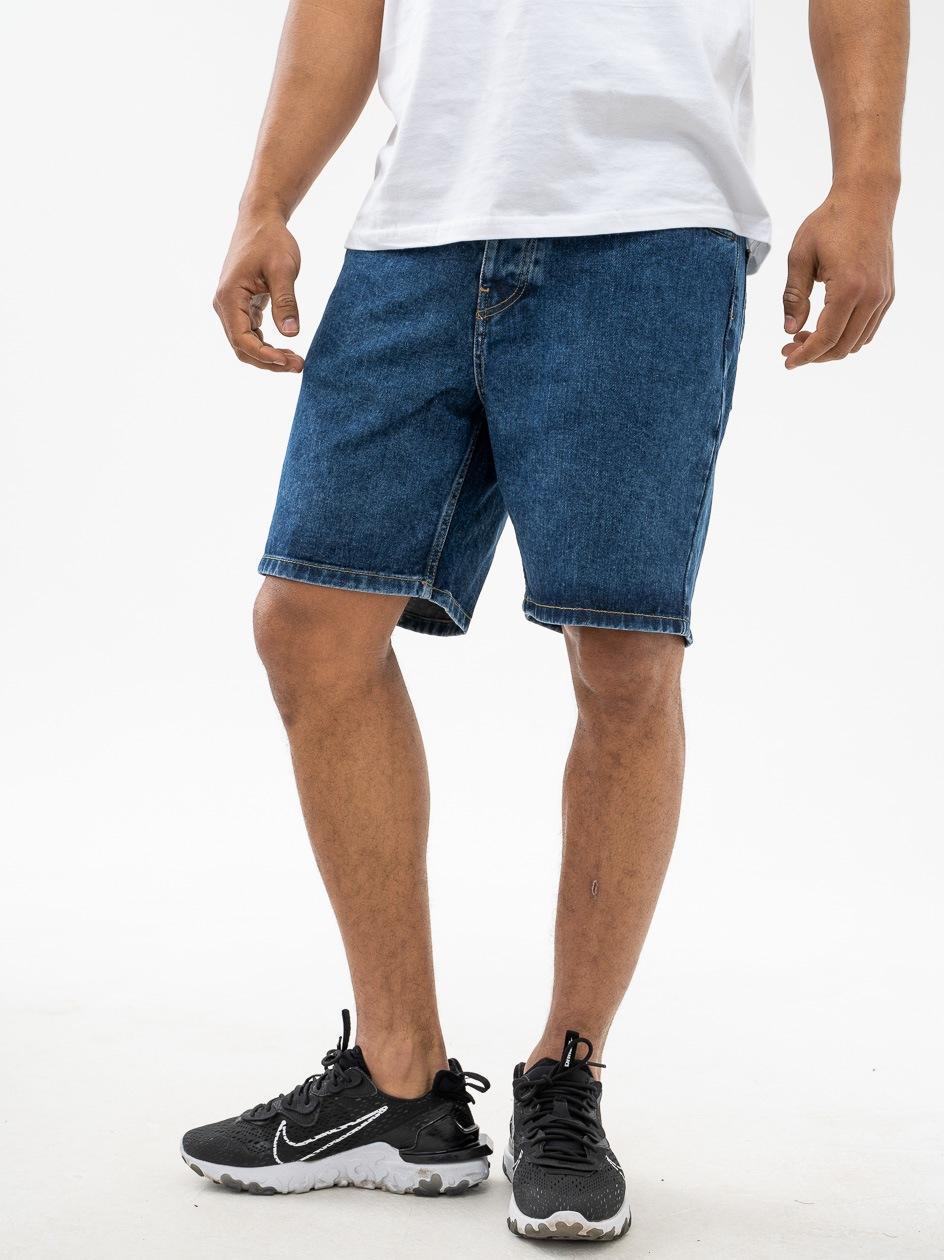 Krótkie Spodenki Jeansowe Carhartt WIP Newel Sprane Niebieskie