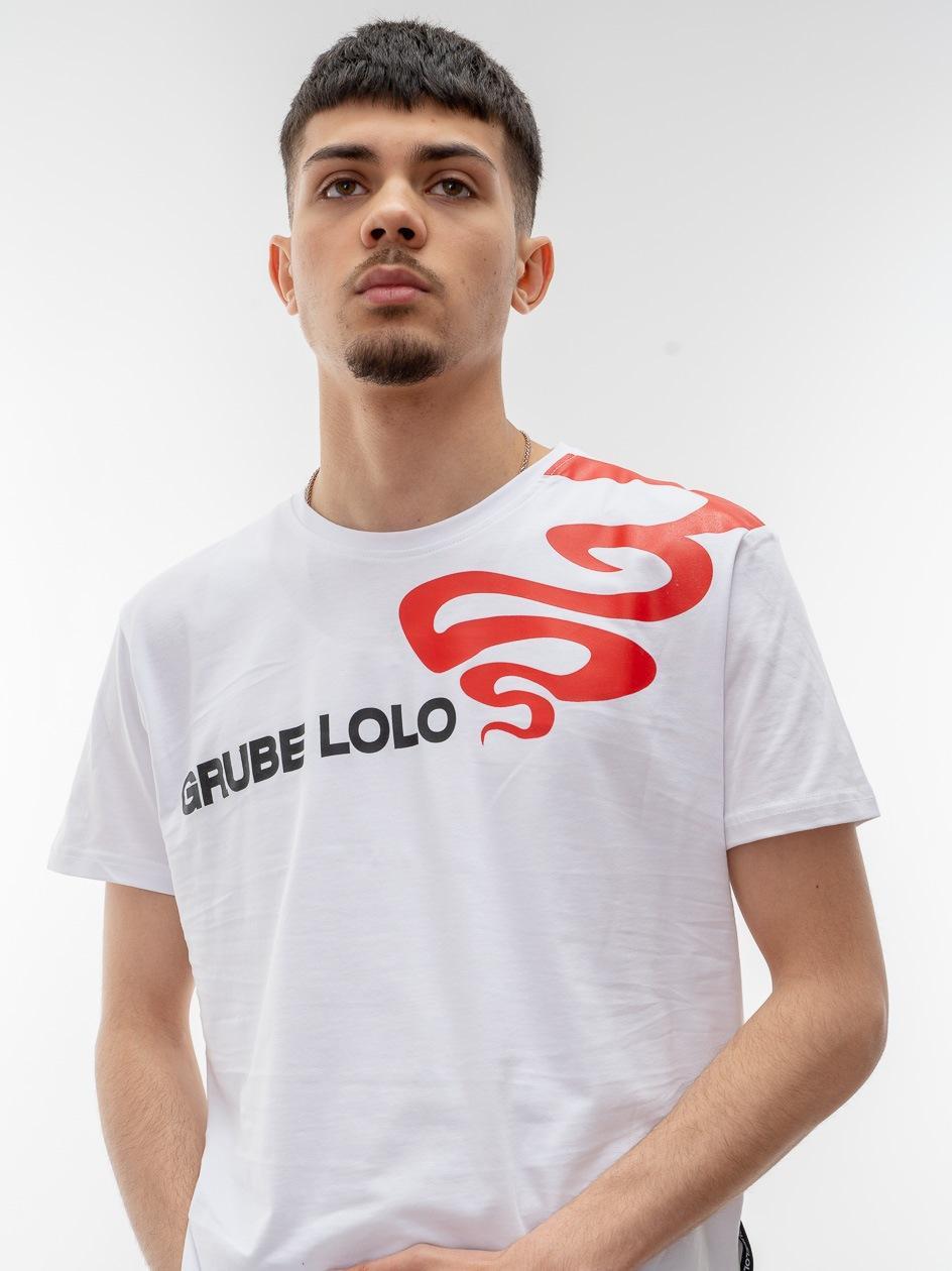 Koszulka Z Krótkim Rękawem Grube Lolo Side Big Logo Biała