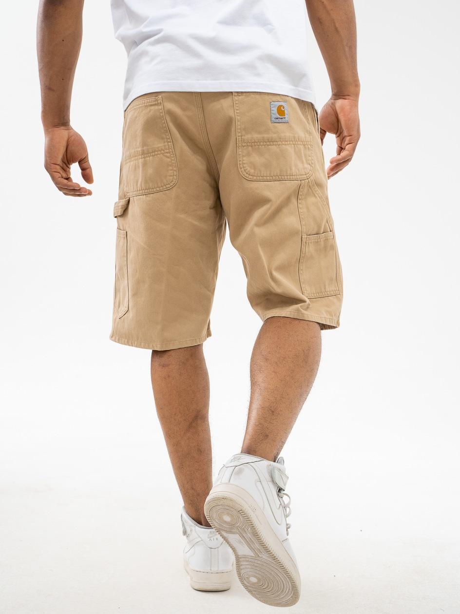 Krótkie Spodenki Materiałowe Carhartt WIP Ruck Single Knee Jasne Brązowe