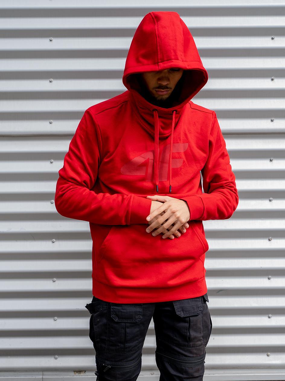 Bluza Z Kapturem 4F New Perforated Czerwona