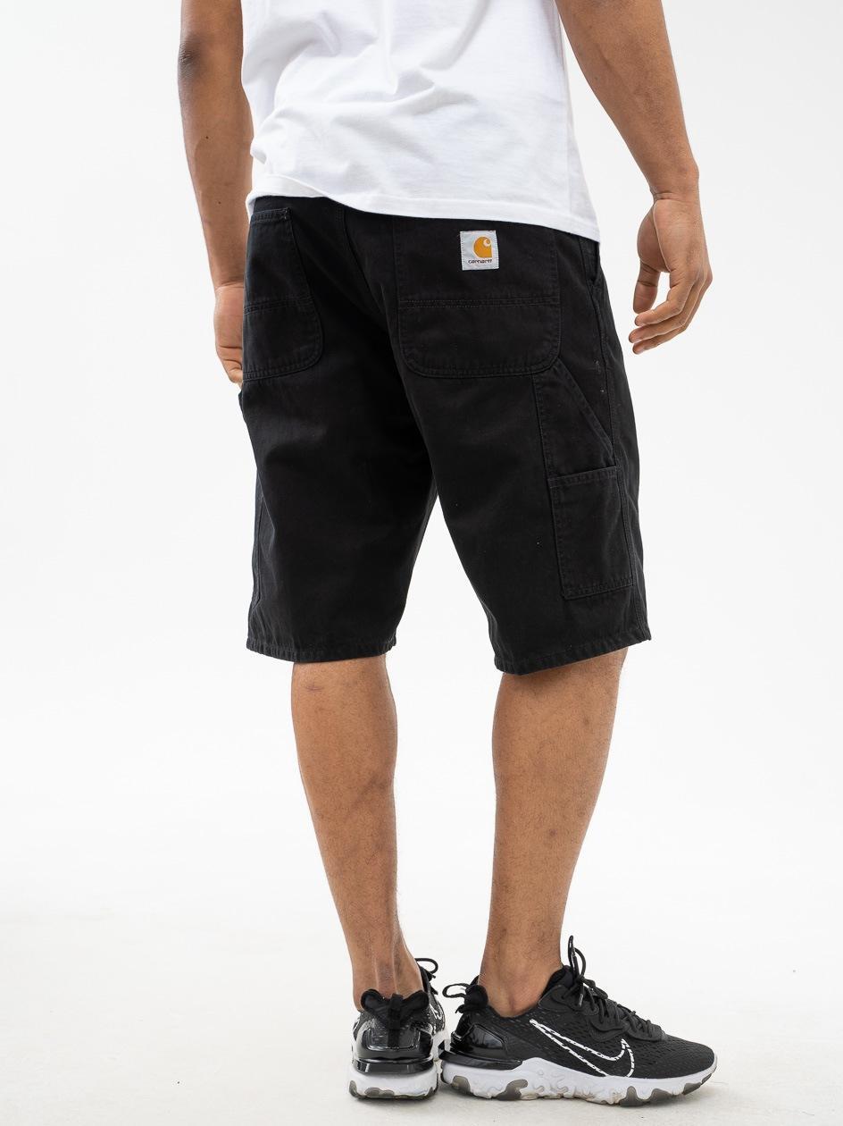 Krótkie Spodenki Materiałowe Carhartt WIP Ruck Single Knee Czarne