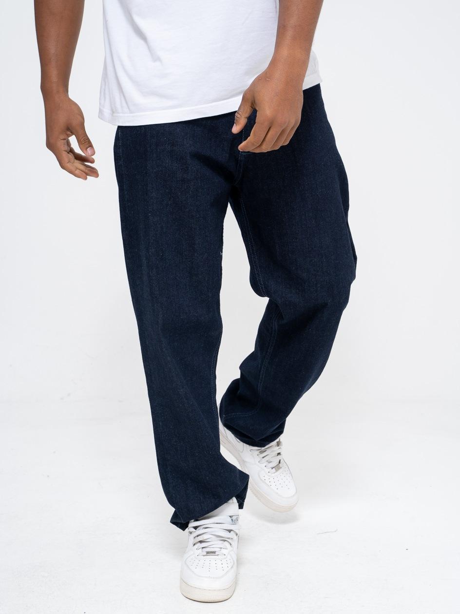 Spodnie Jeansowe Baggy El Polako Classic Skin Ciemne Niebieskie