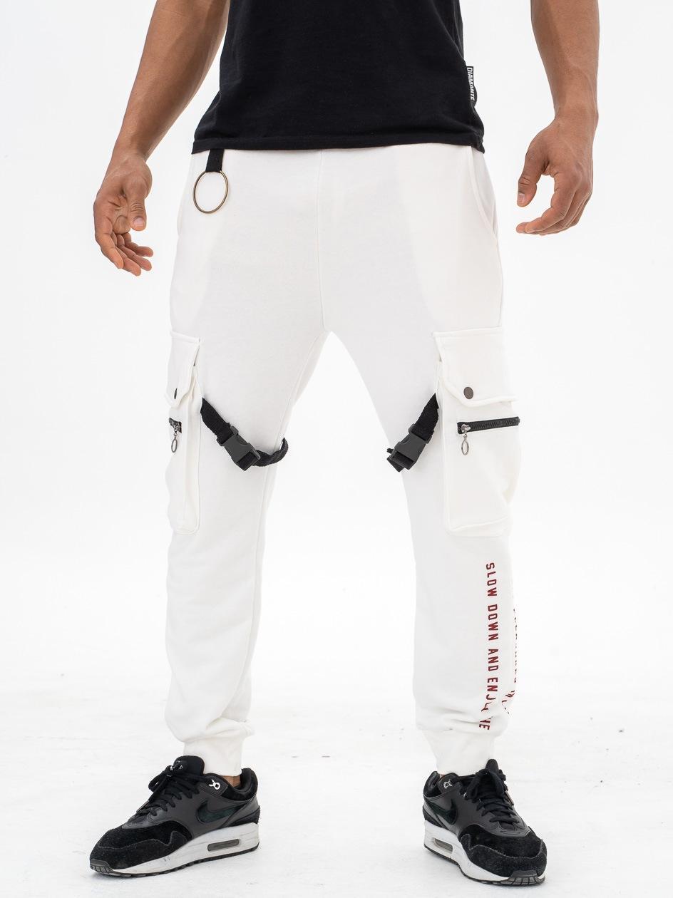 Spodnie Dresowe Bojówki Plus Eighteen Pleasures Białe