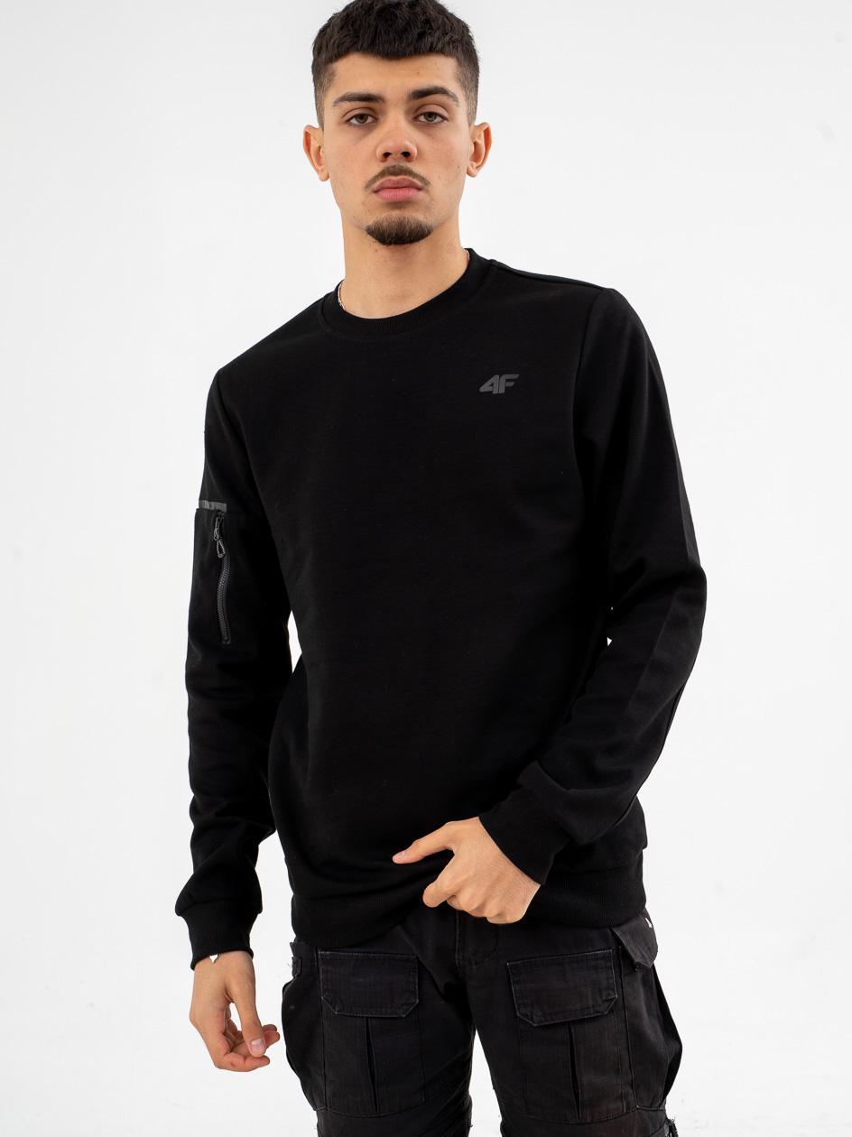Bluza Bez Kaptura 4F Pocket Sleeve Czarna