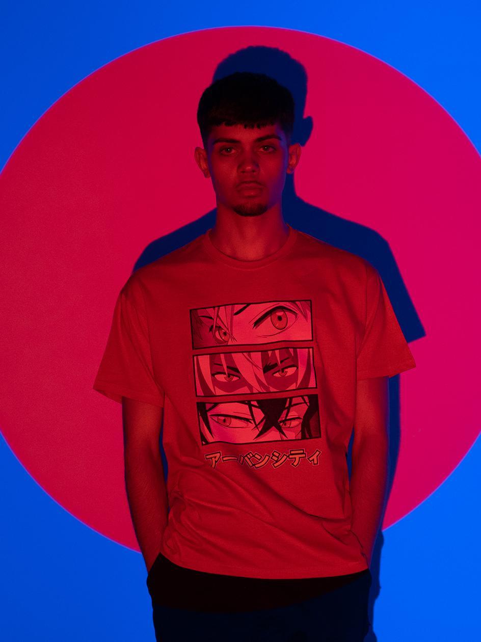 Koszulka Z Krótkim Rękawem MyStars Manga Eyes Czerwona