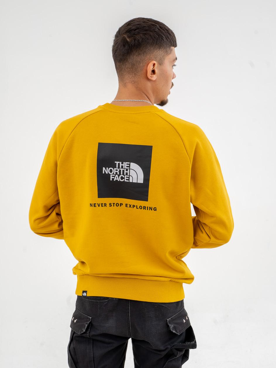 Bluza Bez Kaptura The North Face Rag Red Box New Żółta