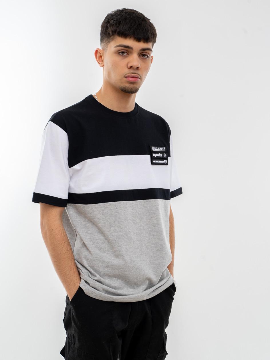 Koszulka Z Krótkim Rękawem El Polako Horizontal Cut Czarna