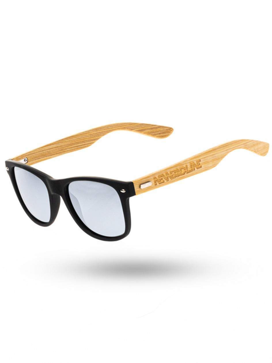 Okulary Przeciwsłoneczne Z Polaryzacją New Bad Line Classic Bamboo Wood Czarne / Srebrne