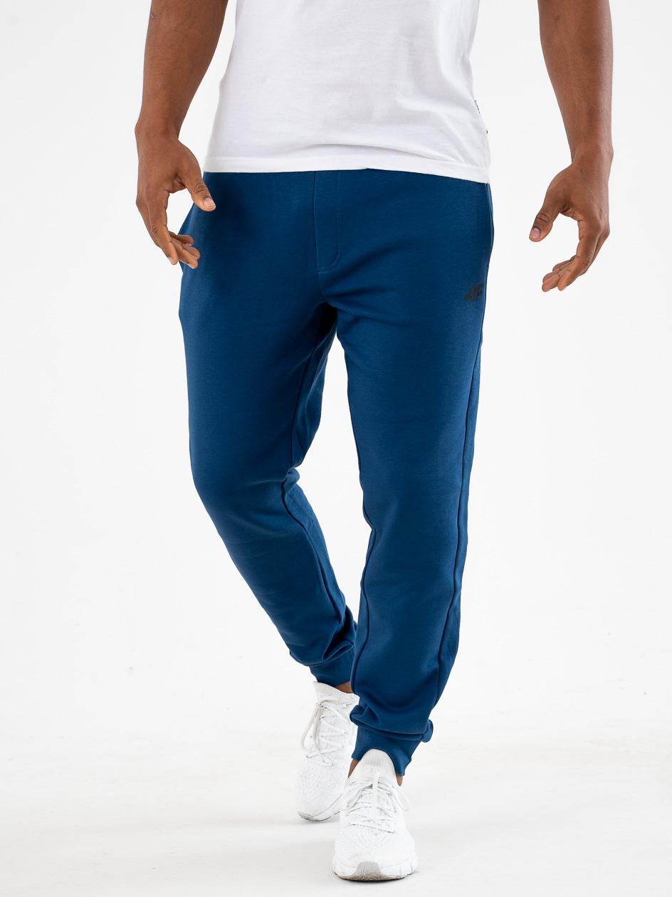 Spodnie Dresowe 4F Small Logo Niebieskie