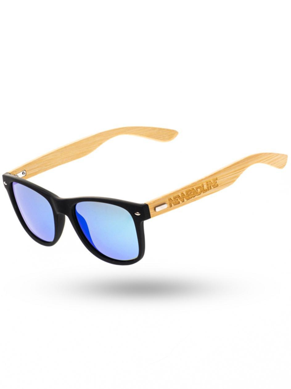 Okulary Przeciwsłoneczne Z Polaryzacją New Bad Line Classic Bamboo Wood Czarne / Zielone