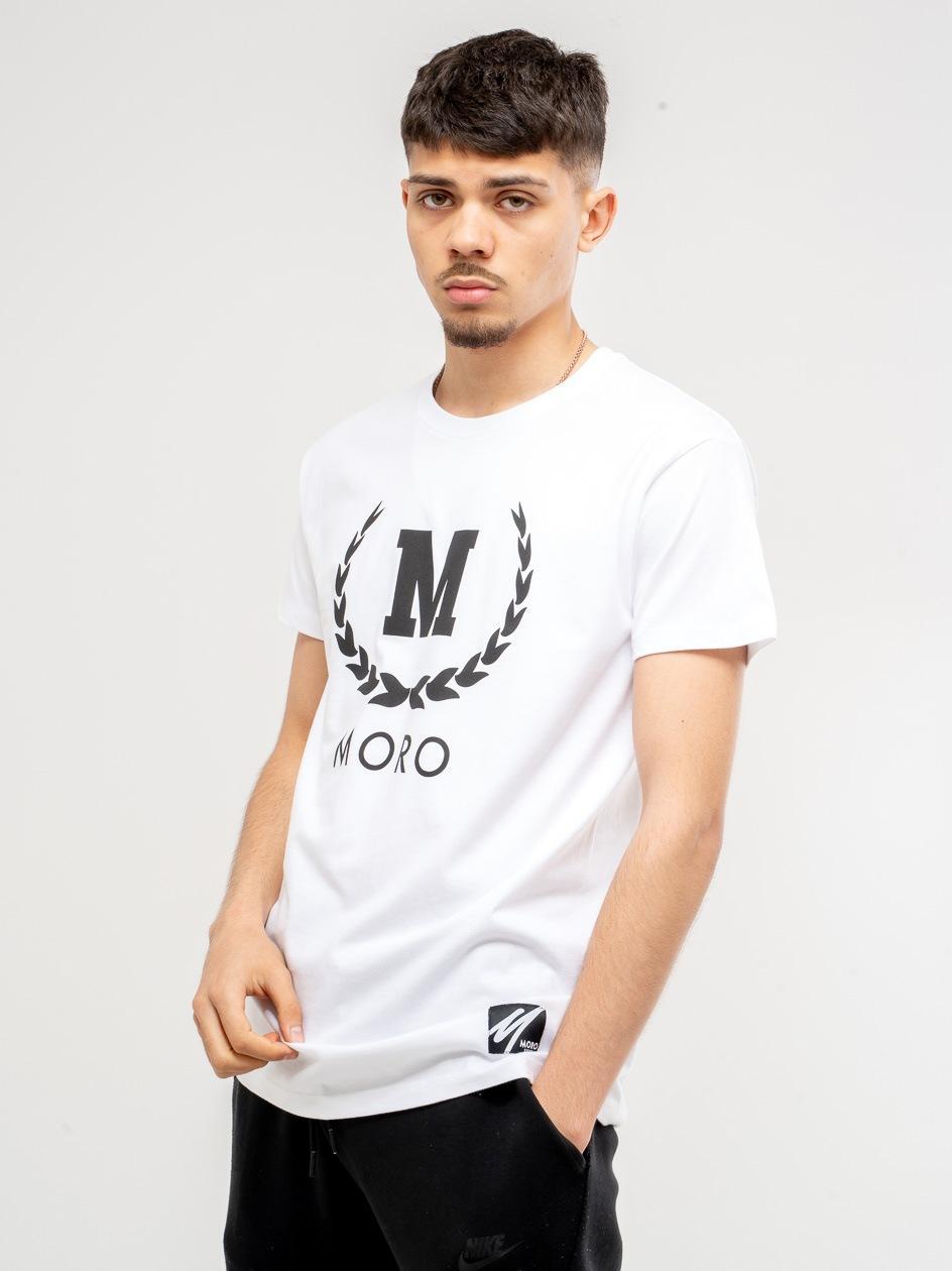 SS21 Koszulka z Krótkim Rękawem Moro Sport New Laurel Biała