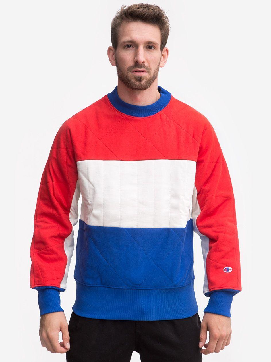 3 Colors Corporate Winter Crewneck Sweatshirt Red White Blue