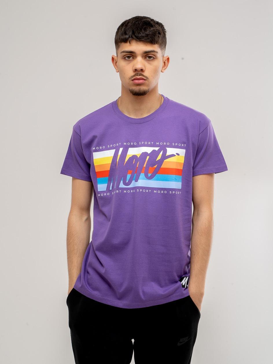 Koszulka z Krótkim Rękawem Moro Sport Slant Frame Color Fioletowa