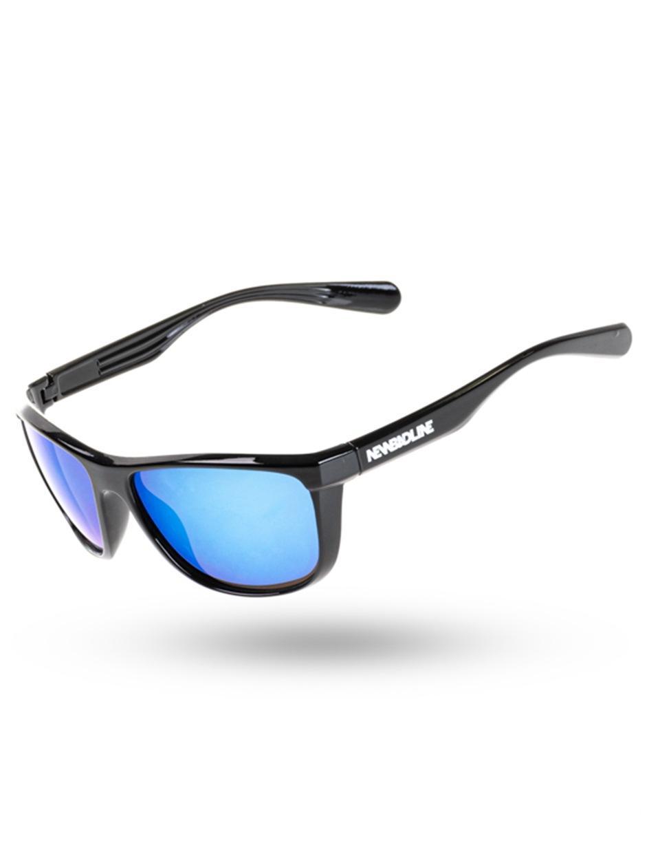 Okulary Przeciwsłoneczne New Bad Line Blaze Blue Mirror Czarne
