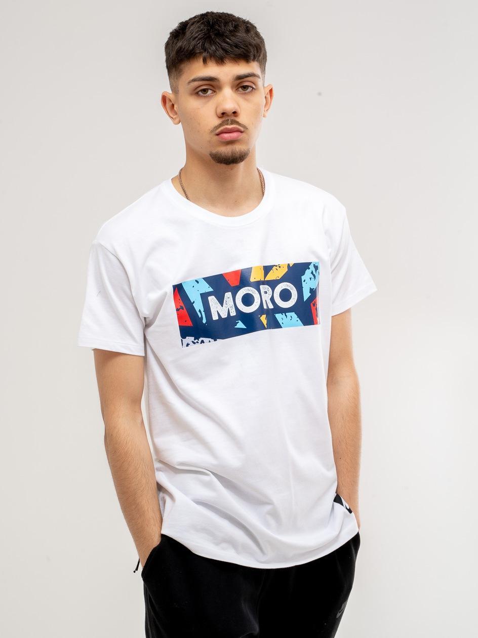 Koszulka z Krótkim Rękawem Moro Sport Color Set Biała