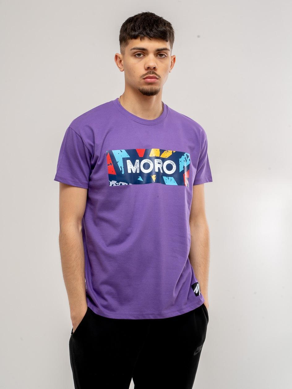 Koszulka z Krótkim Rękawem Moro Sport Color Set Fioletowa