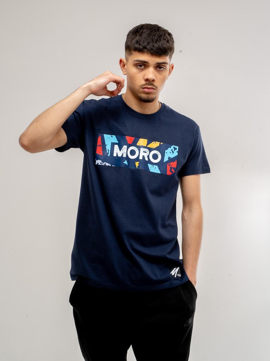 Koszulka z Krótkim Rękawem Moro Sport Color Set Granatowa
