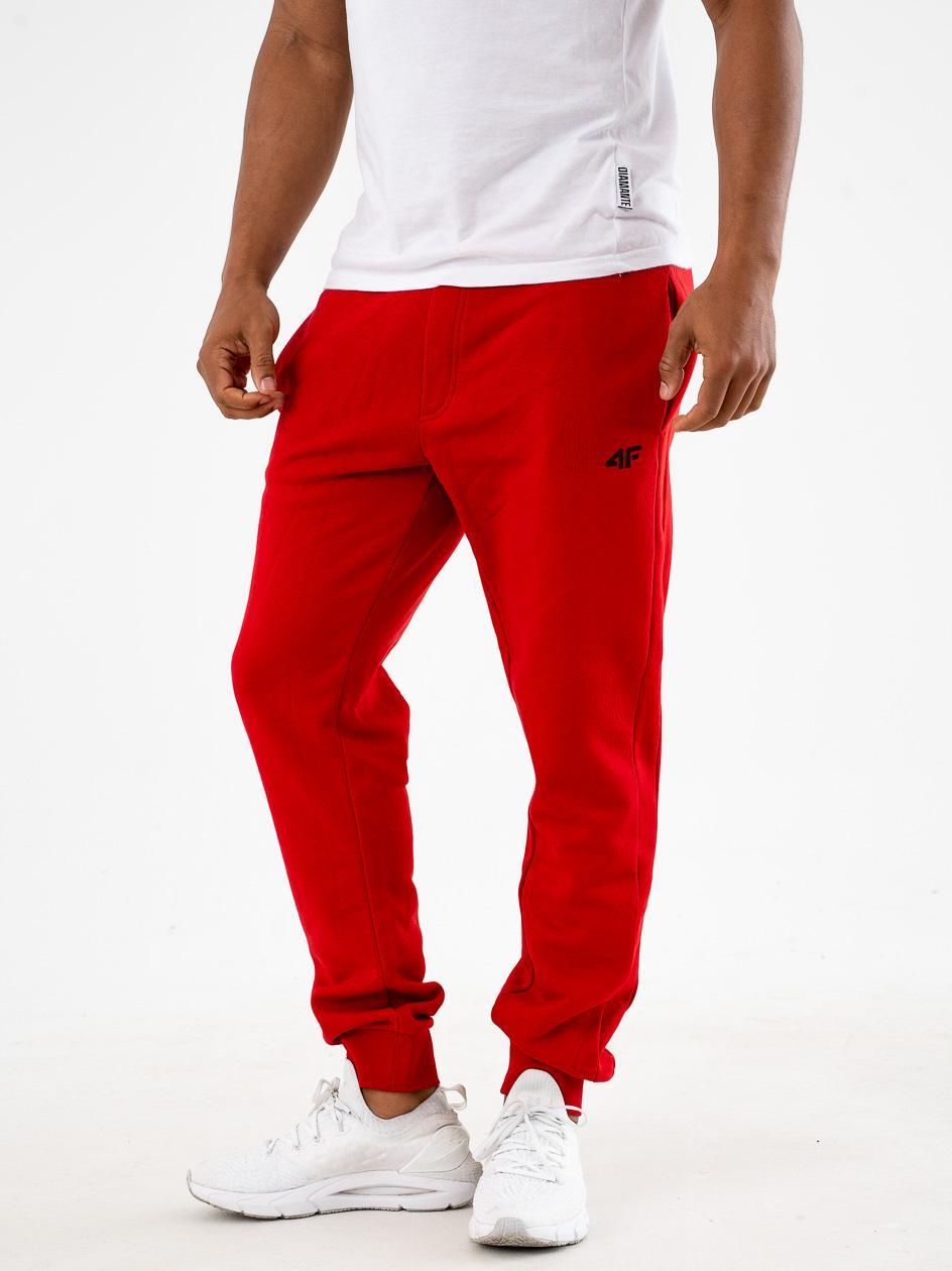 Spodnie Dresowe 4F Small Logo Czerwone
