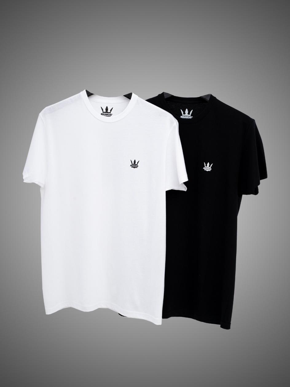 Zestaw 2 T-Shirtów Jigga Wear Mini Crown Czarna / Biała