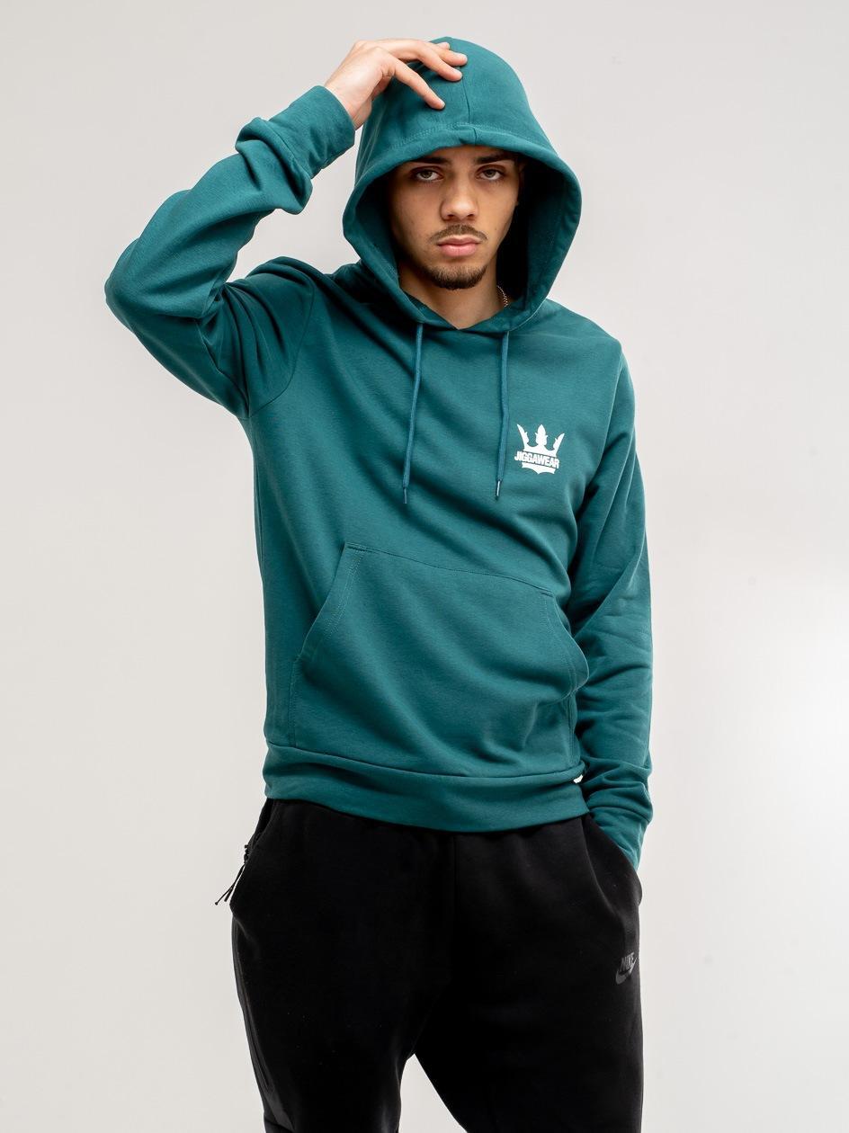 Bluza Z Kapturem Jigga Wear Crown Zielona Morska
