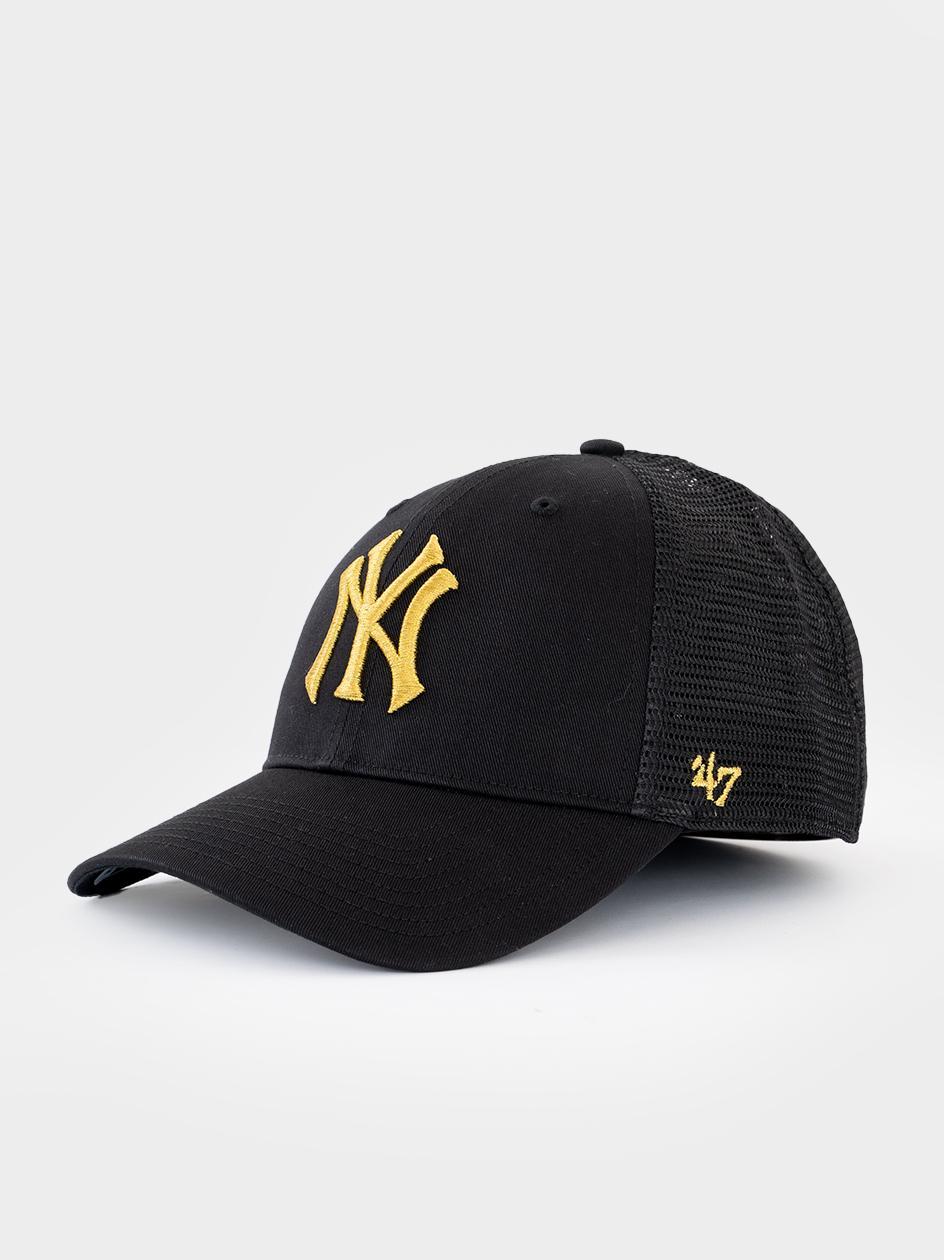 Czapka Z Daszkiem Trucker 47 Brand New York Yankees MLB Branson Metallic Czarna / Złota