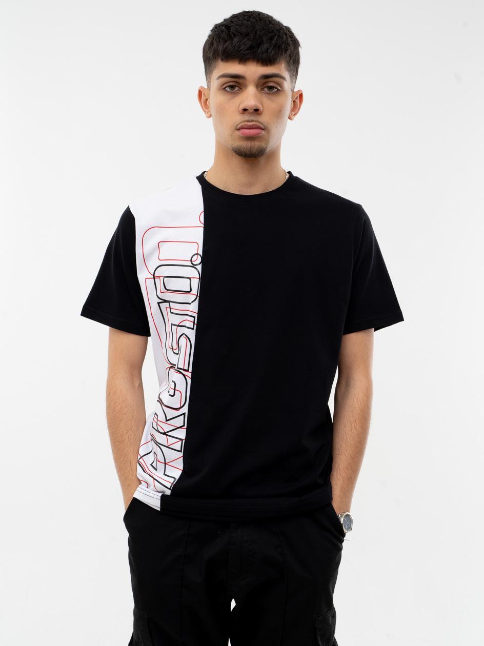Koszulka Z Krótkim Rękawem Prosto Outlay Czarna